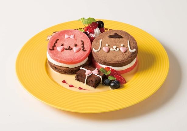「チーズクリームサンド ラブリーパンケーキ」(1393円)