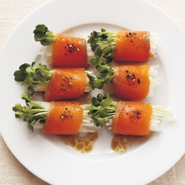 「サーモンの野菜ロール」