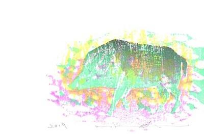 【写真を見る】相生森林美術館の収蔵作家の一人、平木美鶴の作品