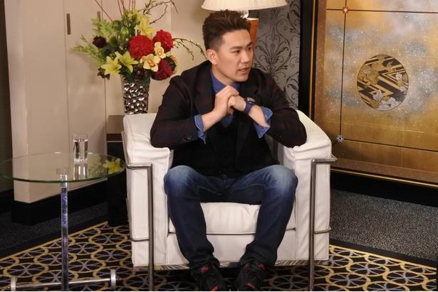 【写真を見る】田中将大投手は懸命にインタビューに答える