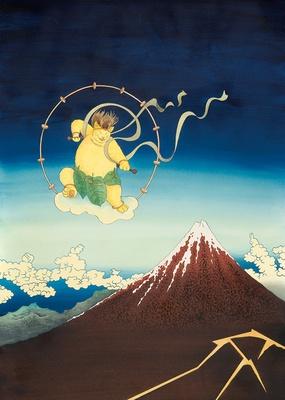 ますむらひろし「米沢市立興譲小学校創立130周年記念ポスター」2010年発表