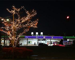 冬の夜の蜃気楼が魚津の街を彩る・富山県魚津市「イルミラージュUOZU」