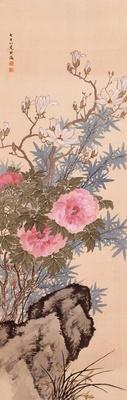 高島北海「牡丹図」(1927年)