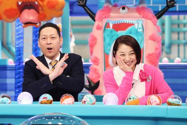 MCの東野幸治と小池栄子
