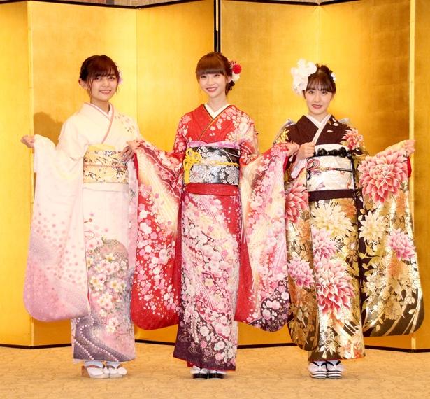 NGT48の中村歩加、荻野由佳、加藤美南(写真左から)