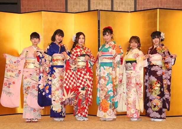SKE48の藤本冬香、井田玲音名、北川綾巴、荒井優希、山田樹奈、白雪希明(写真左から)