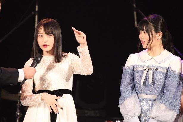 第2組からファイナルへ進んだ横山結衣と矢野帆夏