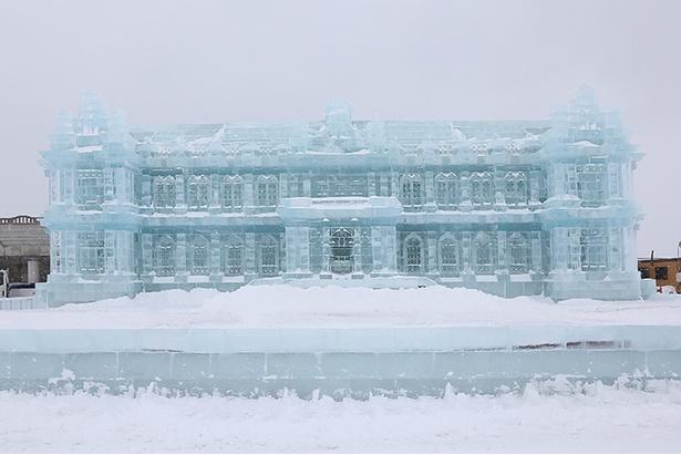 「もんべつ流氷まつり」の様子