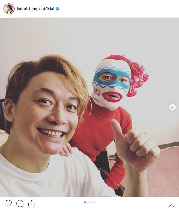 【写真を見る】謎のマスク男が大阪を訪れた