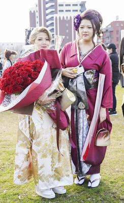 北九州市の成人式で見つけた振袖美人 ななさん ゆきなさん