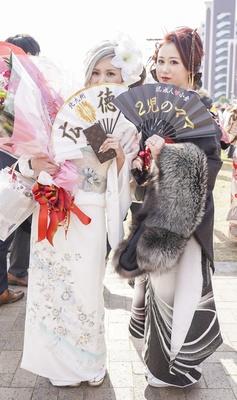 北九州市の成人式で見つけた振袖美人 まなみさん ジュラさん