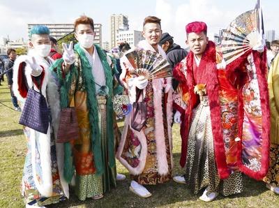 北九州市成人式2019で目立っていた個性あふれるイケメンたち