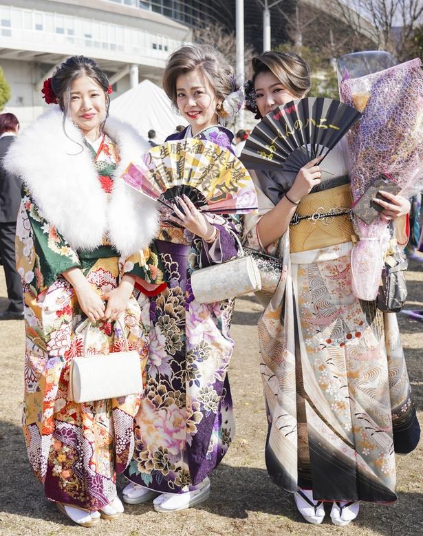 北九州市の成人式で見つけた振袖美人 さやかさん あゆみさん みなみさん
