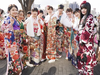 北九州市の成人式で見つけた振袖美人