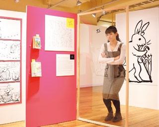会場では、よく知られた10個の漫符を取り上げ、それらの歴史や使用例などを詳しく解説している/京都国際マンガミュージアム