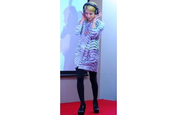【写真】ロックなファッションで登場したBoAさん