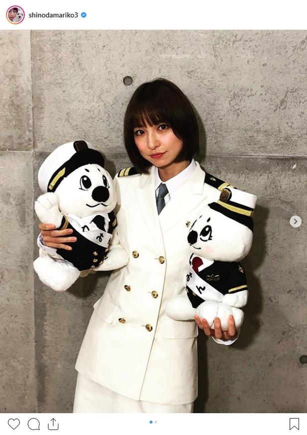 2019年海上保安庁118番イメージモデルに就任した篠田麻里子