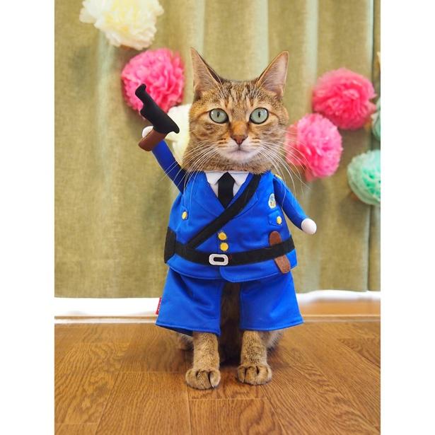 警官になりきって...「手を挙げろ!」