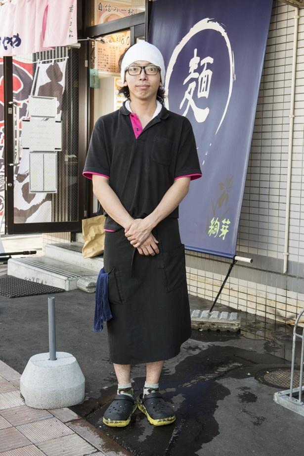 個性派の一杯を生み出した店長 田中幸平さん