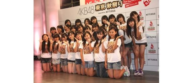 NMB48第一期研究生の26名。平均年齢14.7歳のフレッシュさ!
