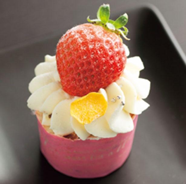 ジャム入りの生地とマスカルポーネ入りのクリームが抜群のカップケーキ/ホテルニューオータニ大阪