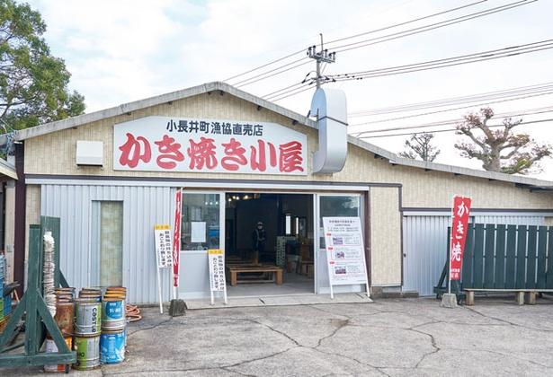 小長井町漁協直売店かき焼き小屋 / 地元食材をその場で堪能!