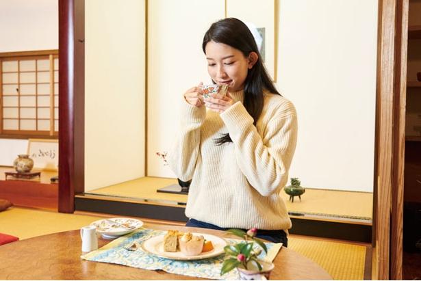 おうちカフェこんぺいとう / 多良岳レインボーロード近くに建つ。畳敷きの座敷とテーブル席がある