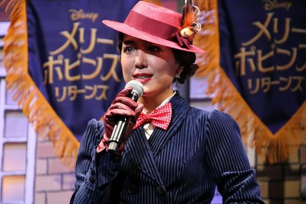 メリー・ポピンズの日本版声優と日本版エンドソングを担当した平原綾香