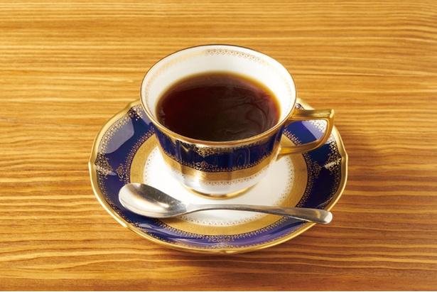 喫茶 銀座 / 「コーヒー」(432円)。昔と変わらず上島珈琲店の豆を使用
