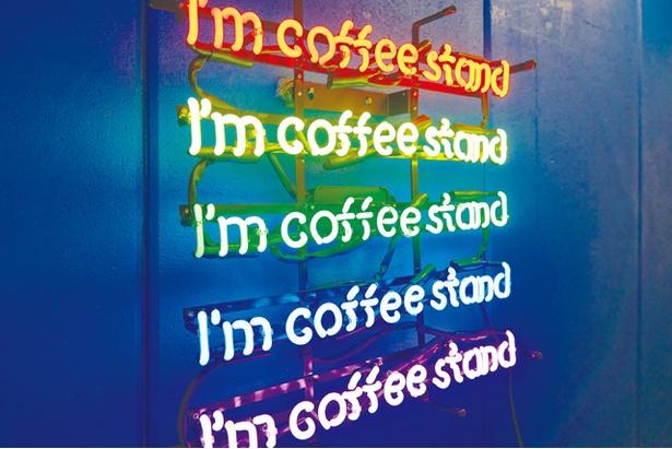 """I'm COFFEE STAND / かわいいネオンも""""映え""""ポイント"""