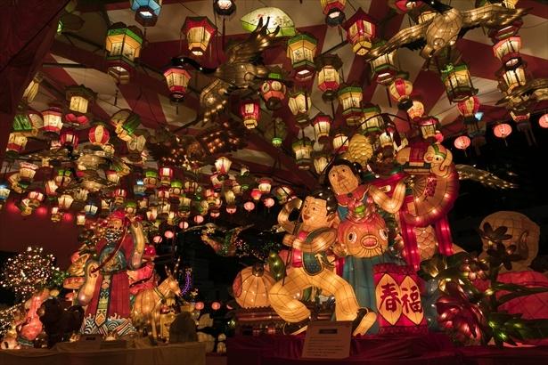 長崎ランタンフェスティバルの様子(写真は新地中華街会場)