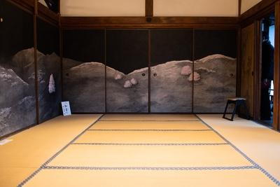 細川元総理大臣が描いた障壁画