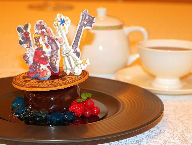 「ハイピリオン・ラウンジ」の「『キングダム ハーツ』スペシャルケーキセット」(2000円/17時~22時提供/数量限定)