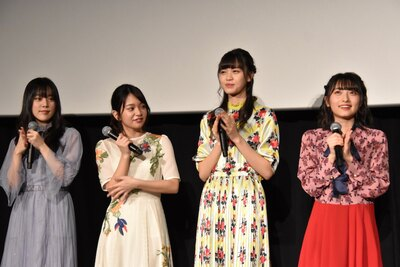 (写真左から)ラストアイドルの間島和奏さん、長月翠さん、阿部菜々実さん、清原梨央さん