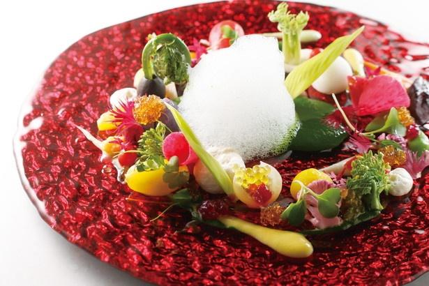 4種あるディナーコースで一番人気の「GRAND」から、前菜の一例/LIBRA SASASHIMA GRAND DIA