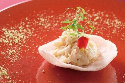 兵庫県香住産ズワイガニのオーロラソース和え/ル シノワ サノ イズミ