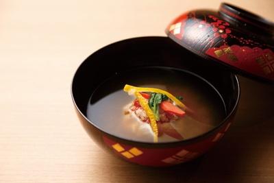 御椀の一例、雪中仕立て/日本料理 小西