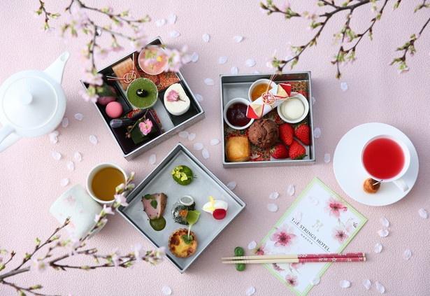 """【写真を見る】日本の春がテーマの""""お重スタイル""""が、かわいい!「""""桜×抹茶""""で日本の春を楽しむお重スタイル」"""