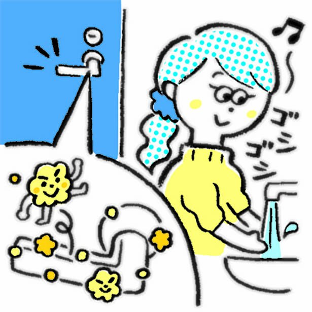 手洗いしても、ドアノブはスルー?