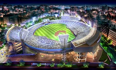 【写真を見る】「横浜スタジアム」の完成イメージ