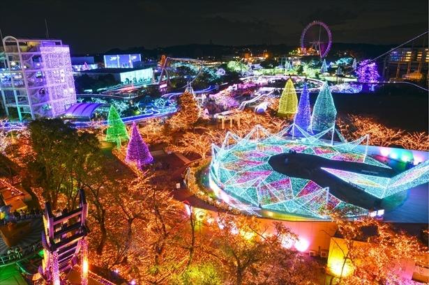【写真を見る】全エリアをリニューアルし、600万球のイルミネーションが園内を彩る