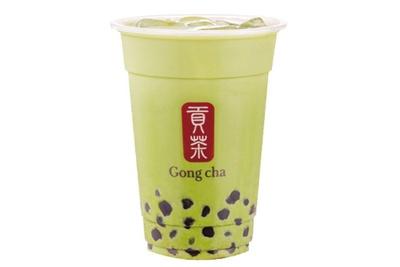 抹茶 ミルクティー+パールM(583円)/ゴンチャ 梅田茶屋町店