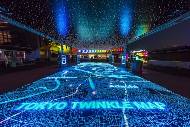 体験型インタラクティブ空間の「TOKYO TWINKLE MAP」