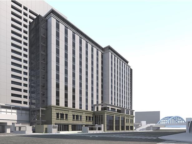 「桜木町駅前複合ビル」の完成イメージ
