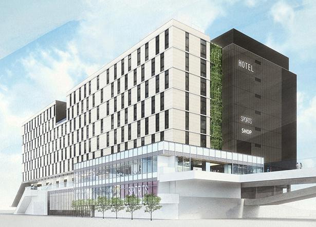 「JR横浜鶴屋町ビル」の完成イメージ