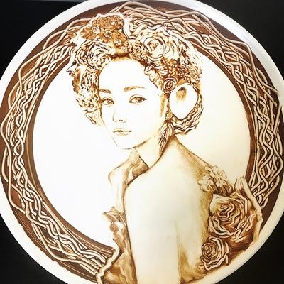 安室奈美恵さんを描いたチョコレートアート