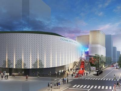 「横浜文化体育館(メインアリーナ)」の完成イメージ