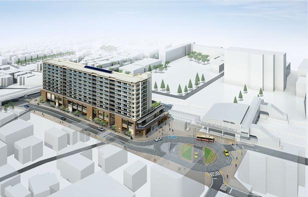 再開発される瀬谷駅周辺の完成イメージ