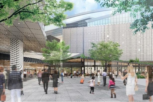 再開発される川崎駅西口のイメージ