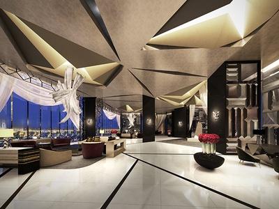 【写真を見る】「ザ・カハラ・ホテル&リゾート 横浜」のラグジュアリーな雰囲気がただようスカイロビーのイメージ